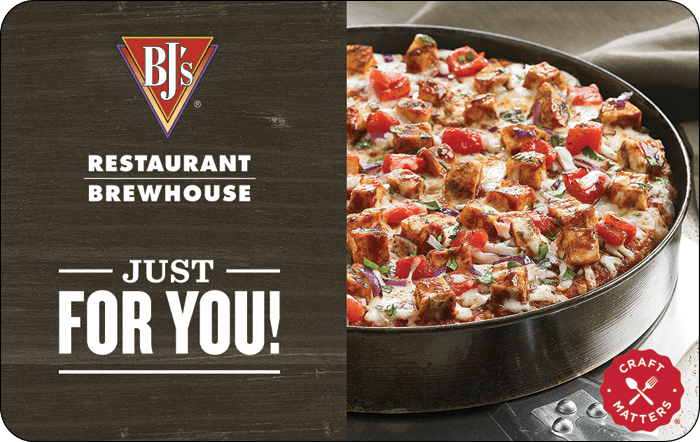 BJ's Restaurant & Brewhouse Gift Card