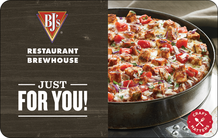 BJ's Pizza Gift Cards