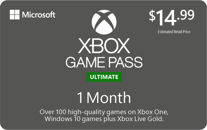 XBOX Game Pass Ultimate 1M $14.99