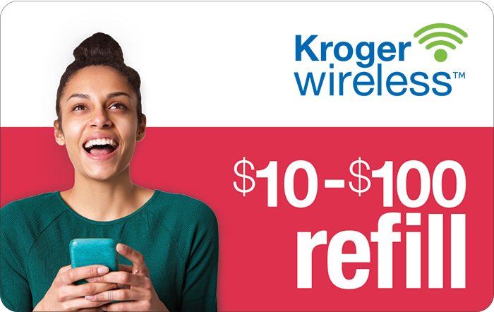 Kroger Wireless Prepaid Phone Cards (e-delivery)