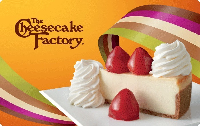 Promotion of The Cheesecake Factory eGift