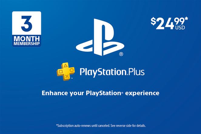 Sony PlayStation Plus 3M $24.99 eGift
