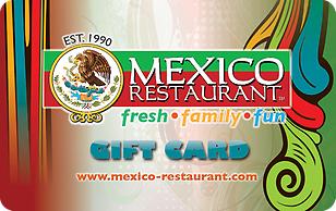 Mexico Restaurant eGift