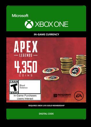 XBOX Legends 4350 Coins $39.99 eGift