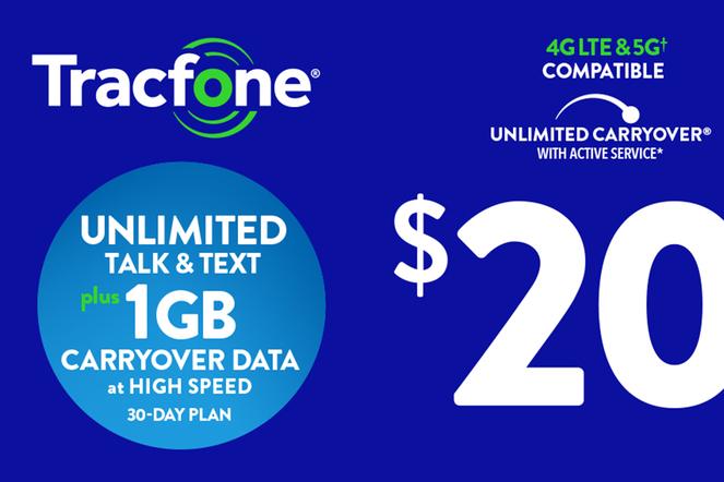 Tracfone Unlimited $20 eGift