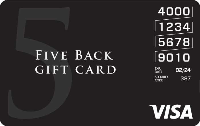 Five Back Visa eGift Card