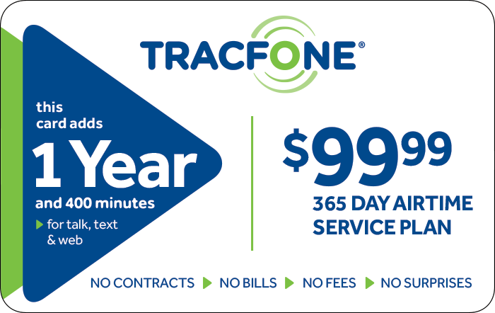 Promotion of $99.99 TRACFONE Prepaid Phone Cards (e-delivery)