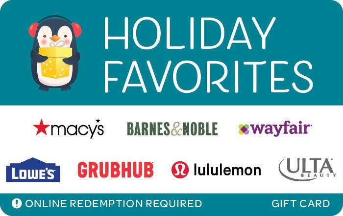 Promotion of Holiday Favorites eGift Card