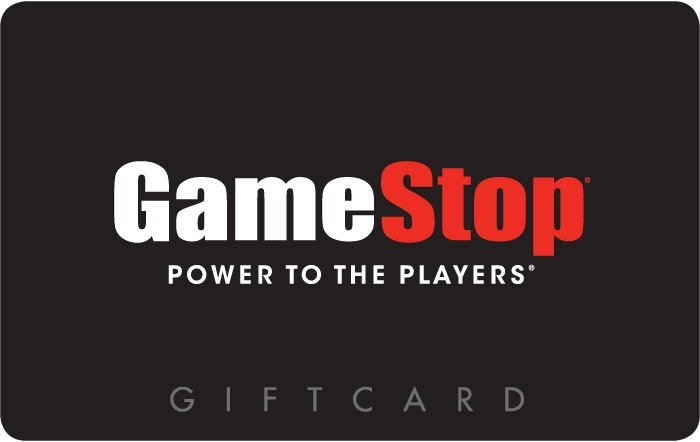 Image GameStop logo with text power to the players and gift card on a gift card. Link to GameStop gift card purchase details.