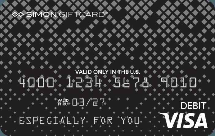 Visa® Simon Giftcard®: Silver Signature