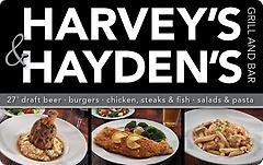 Harveys & Haydens Grill and Bar Gift Card