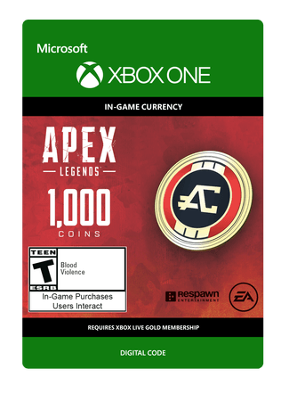 Apex Legends 1000 Coins $9.99 eGift