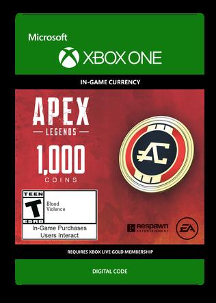 Apex Legends 1000 Coins $9.99 eGift