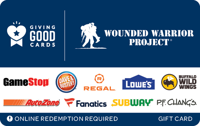 Giving Good Wounded Warrior Project Swap eGift