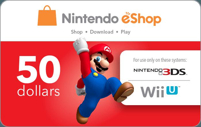 Nintendo $50 eGift Card