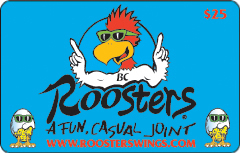 Roosters Standard Gift Cards
