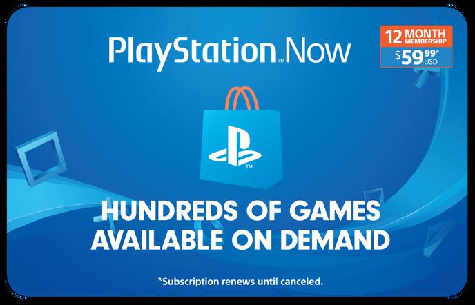 Sony PS Now 12M $59.99 eGift