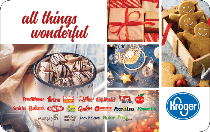 Kroger All Things Wonderful Gift Card