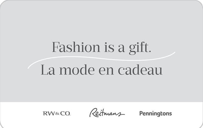 Reitmans, RW&CO and Penningtons eGift Card