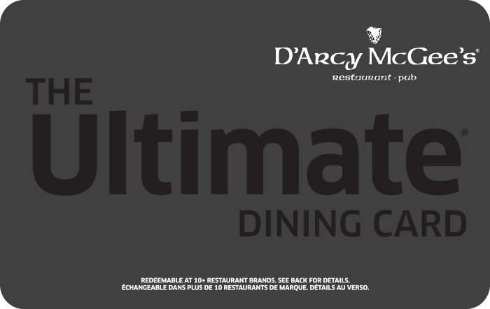Ultimate Dining eGift Card for D'Arcy McGee's