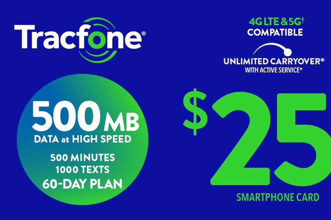 TRACFONE $25 Prepaid Phone Card (e-delivery)
