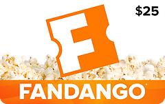 Fandango $25 Gift Card