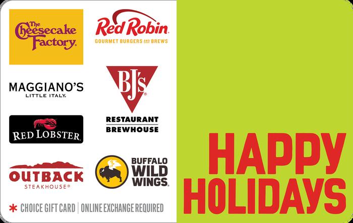 Happy Holidays Dining eGift Card
