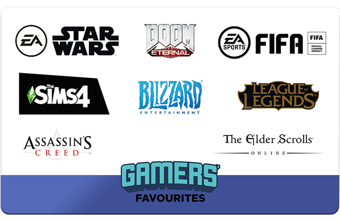 Gamers Favourites Gift Card