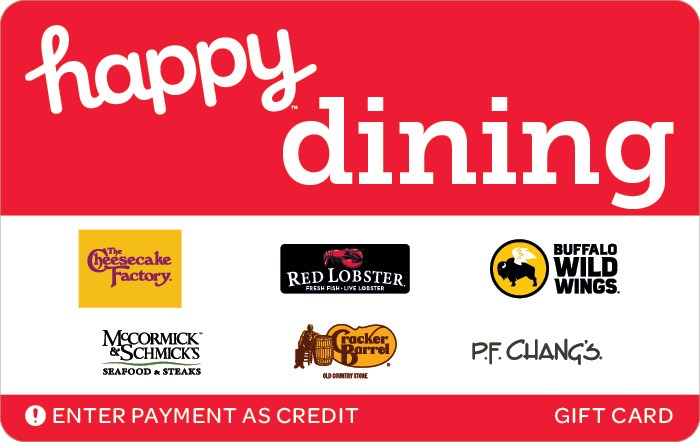 Promotion of Happy Dining Gift Card