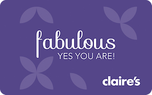 Claire's Purple Fabulous eGift