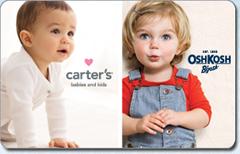 Carters Oshkosh Bgosh Gift Cards