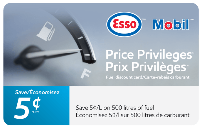 Esso and Mobil Price Privileges Card