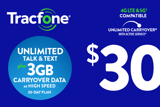 Tracfone Unlimited $30 eGift
