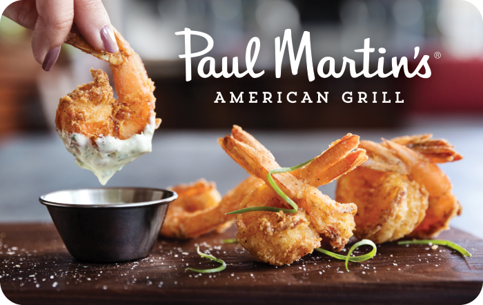 Paul Martin's American Grill Gift Card