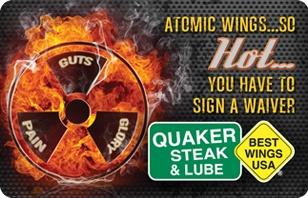 Quaker Steak & Lube Atomic eGift Card