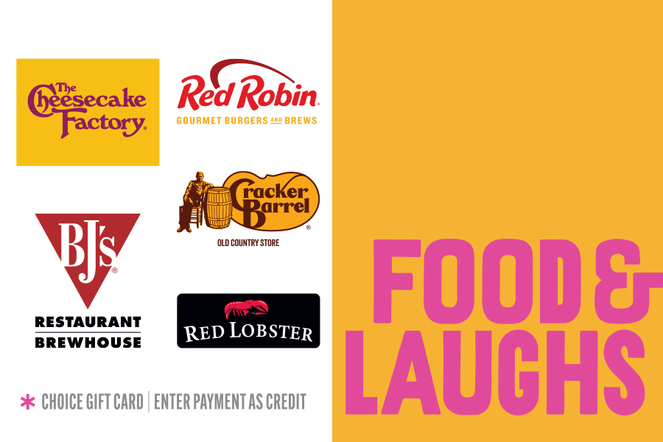 Food & Laughs Gift Card