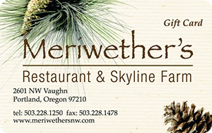 Meriwethers Restaurant eGift Card