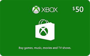 Microsoft Xbox Cash $50 eGift