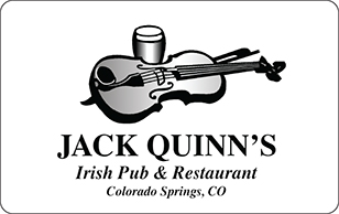 Jack Quinns Irish Pub and Restaurant eGift