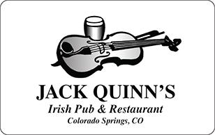 Jack Quinns Irish Pub and Restaurant eGift