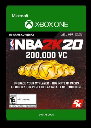 Xbox NBA 2K20 200000VC $49.99 eGift