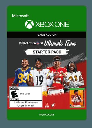 Xbox Madden Starter Pk $4.99 eGift