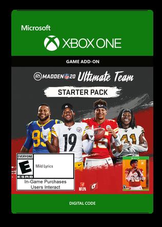 Xbox Madden NFL 20: MUT Starter Pack eGift