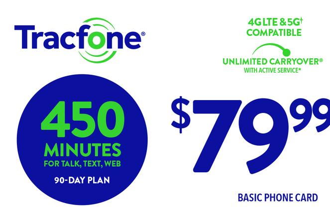 TRACFONE $79.99 Prepaid Phone Card (e-delivery)