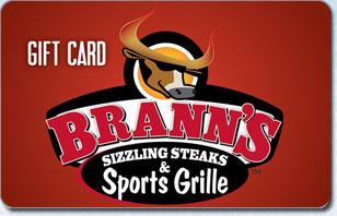 Branns Sizzling Steaks & Sports Grill $25 eGift
