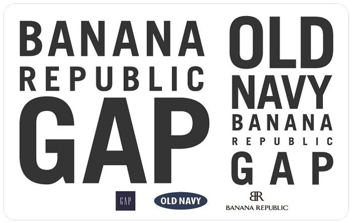 Gap, Old Navy, Banana Republic eGift Card