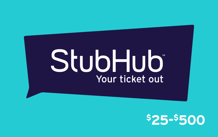 Stubhub Gift Cards