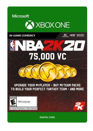 Xbox NBA 2K20 75000 VC eGift Card