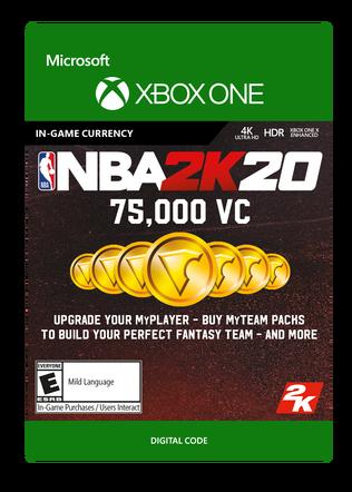 Xbox NBA 2K20 75000VC $19.99 eGift