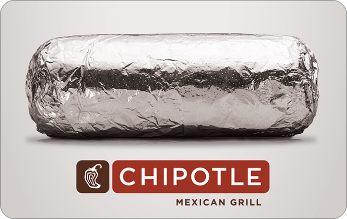 Promotion of Chipotle Mexican Grill eGift